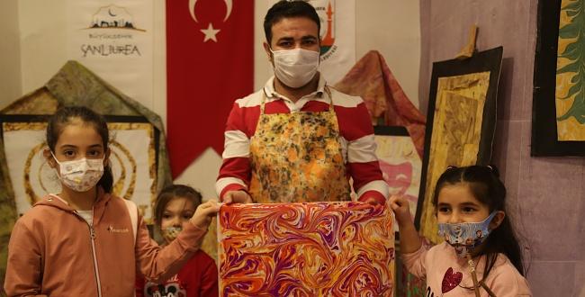 Urfa'da Sanat Atölyesi İle Çocuklar Hayal Gücünü Gelişiyor