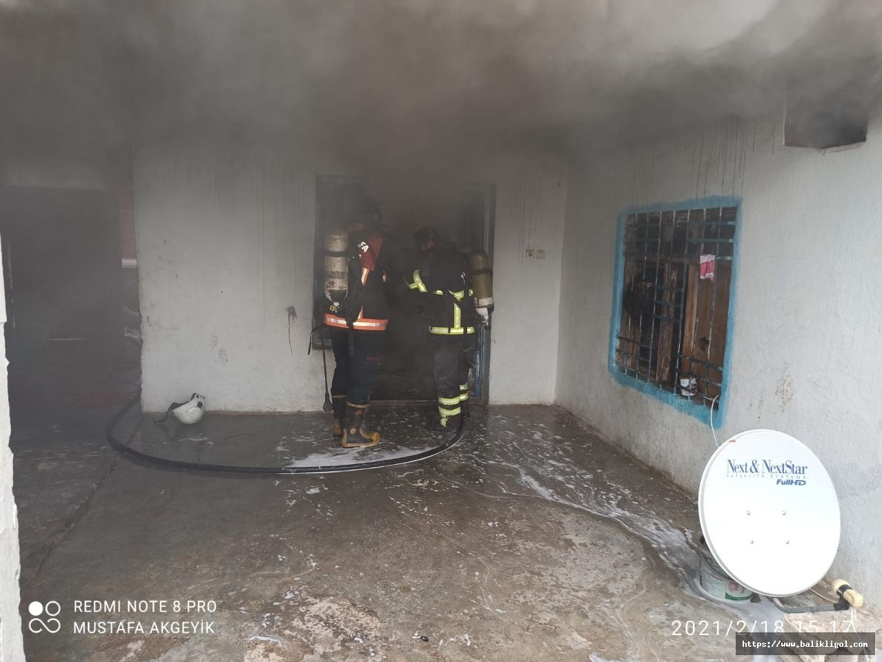 Ceylanpınar'da ev yangını! İtfaiye müdahale etti