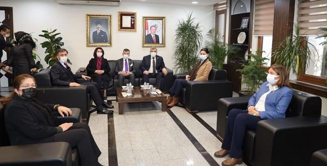 Genel Başkan Yardımcısı Çiğdem Karaaslan'dan Başkan Beyazgül'e Ziyaret