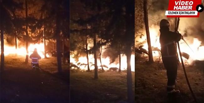 Urfa'da yangın, İtfaiye müdahale etti