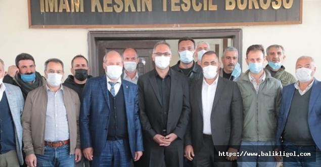 Belediye Başkanı Kuş İmam Keskin Buğday Pazarı esnafını ziyaret etti
