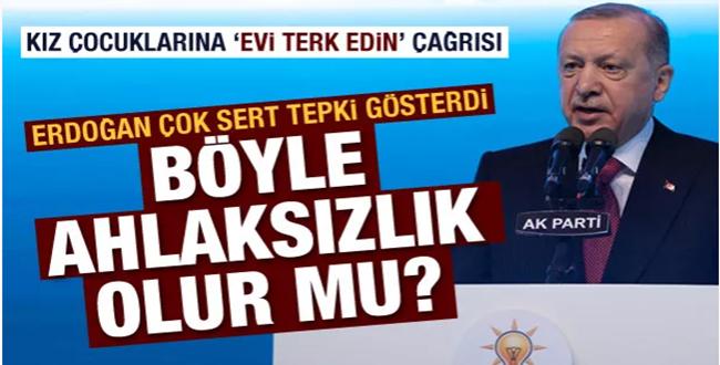 Cumhurbaşkanı Erdoğan'dan sert tepki gösterdi