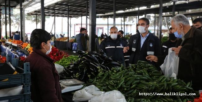 Haliliye Belediye Zabıtası Maske Denetimi Yapıyor