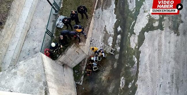 Hızmalı Köprü'de intihar etti