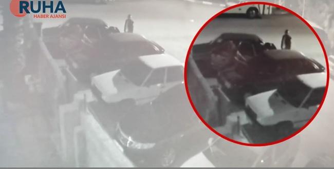 Şanlıurfa'da akü hırsızları kameraya yakalandı
