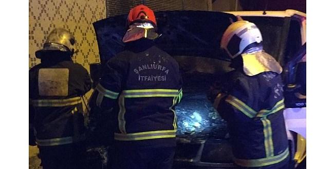Şanlıurfa'da bir otomobil kundaklandı