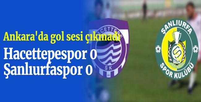 Şanlıurfaspor Ankara'dan 1 Puanla Döndü
