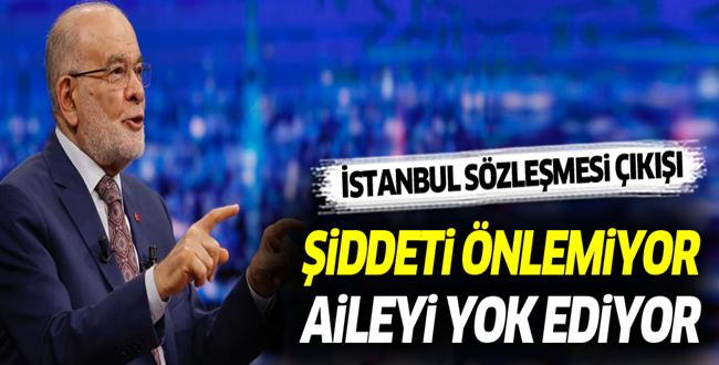 SP Lideri Karamollaoğlu: Kadına şiddet 10 misli arttı