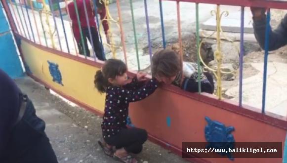 Suriyeli çocuğun kafası demir parmaklığa sıkıştı