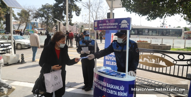 Urfa'da Zabıta Broşür Dağıttı