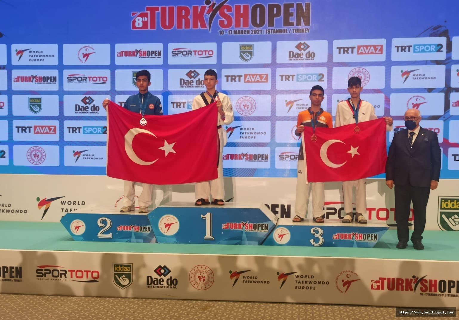 Urfalı Sporcu Uluslararası Türkiye Açık Tekvando Turnuvasında 3. Oldu