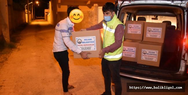 Hilvan'da ihtiyaç sahibi ailelere gıda yardımı