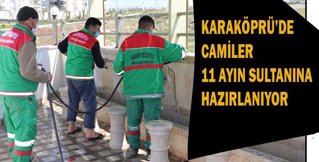 Karaköprü Belediyesi Camilerde Ramazan Temizliği Başlattı