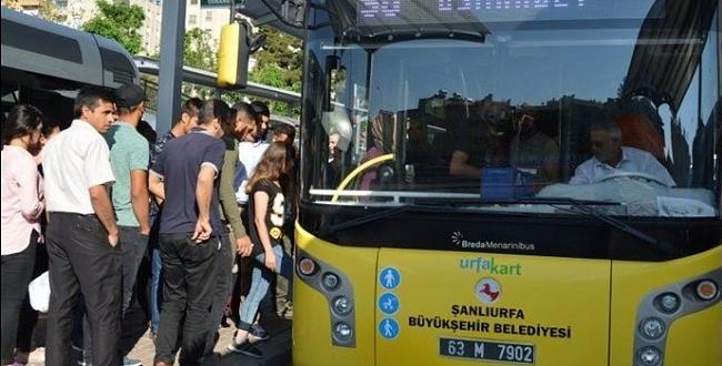 Şanlıurfa'da toplu taşıma araçlarının sefer saatleri değişti