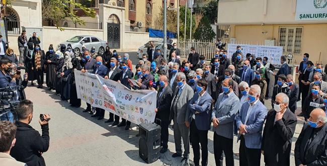 Urfa'da 57 STK'dan Ortak Açıklama: Doğu Türkistan'da Nesil Yok Ediliyor