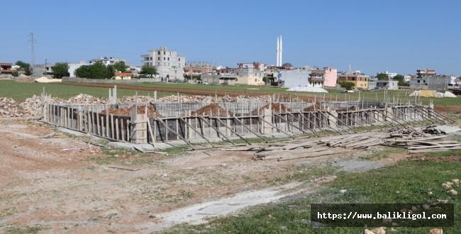 Hilvan'da modern mezbahane inşaat çalışmaları başladı
