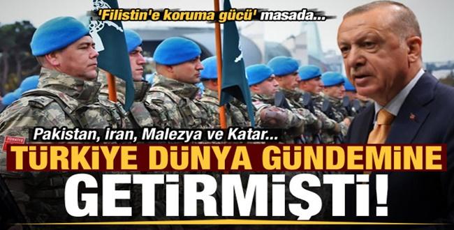 Türkiye Öncü Oluyor! Filistin'e koruma gücü' masada...