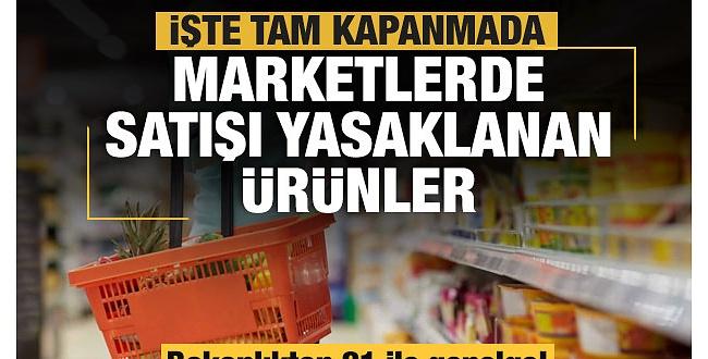 Urfa dahil 81 ile genelge! Zincir Marketlerde o ürünlerin satışına yasak getirildi