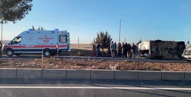 Urfalı tarım işçileri Konya'da Kaza Yaptı: 4 kişi yaralandı