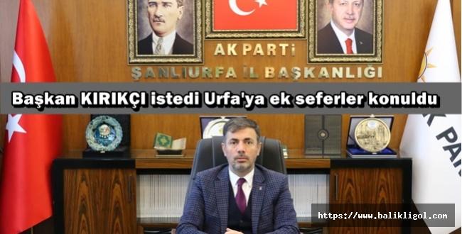 Urfalılar artık Gaziantep'ten uçmayacak