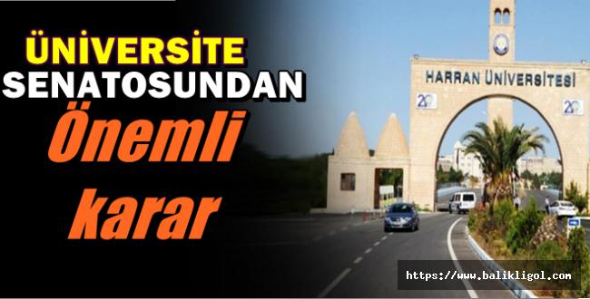 Harran Üniversitesi O Sınavları Senato Kararıyla Kaldırdı