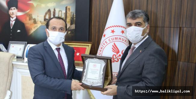 Urfa il sağlık müdürlüğünde devir teslim töreni yapıldı