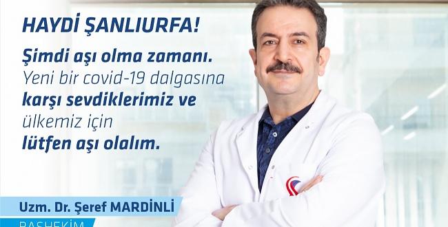 Başhekim Mardinli'den aşılanma çağrısı