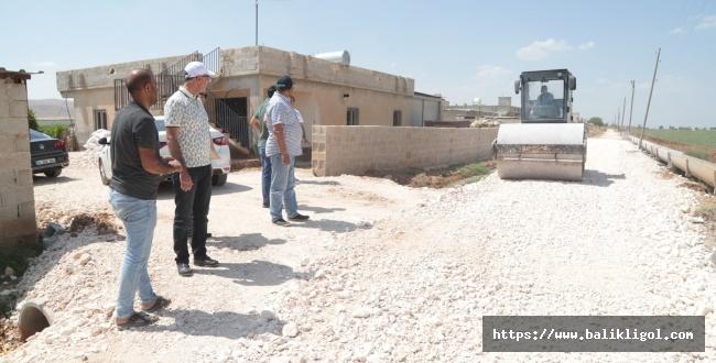 Başkan Kuş kırsalda yol yapımını denetledi