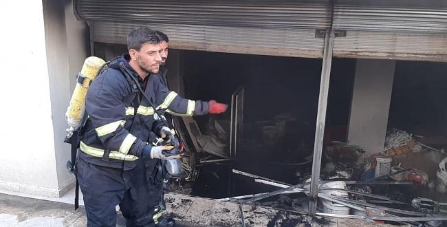 Ceylanpınar'da yangın, itfaiye müdahale etti