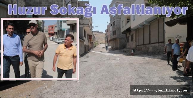Eyyübiye'nin Huzur Sokağı Asfaltlanıyor