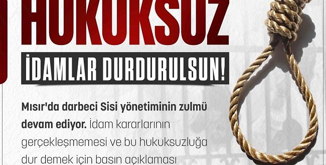 Şanlıurfa STK'ları Darbeci Sisi'nin İdam Zulmüne karşı meydanlara iniyor