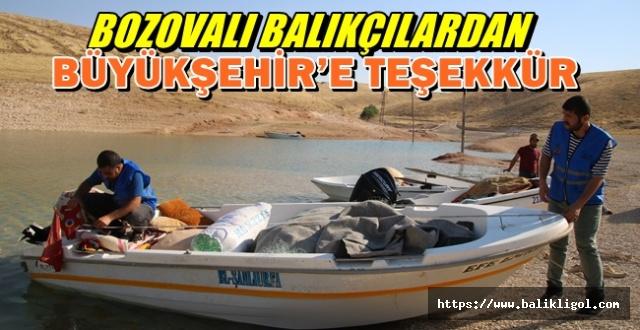 Urfa Büyükşehir Balıkçıları Mersin'e ruhsat için gitmekten kurtardı