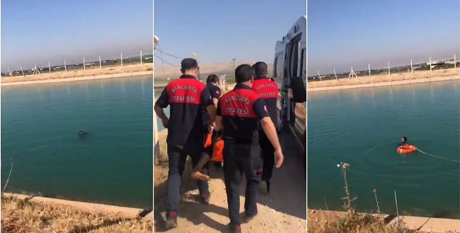 Kanalda boğulmak üzere olan genç kurtarıldı