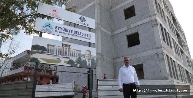 Eyyübiye'de dev eser! Başkan Kuş incelemelerde bulundu