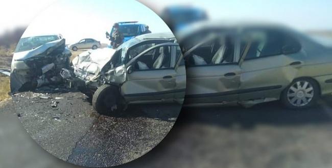 Otomobiller kafa kafaya çarpıştı:1 ölü, 6 yaralı
