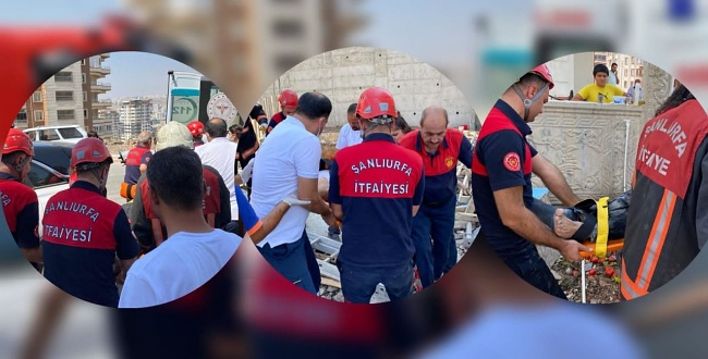 Şanlıurfa'da İnşaattan düşen işçi ağır yaralandı