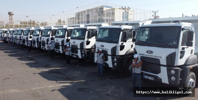 Urfa Büyükşehir belediyesi 39 yeni araç filosuna kattı
