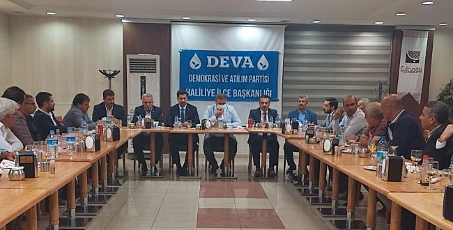 Şanlıurfa Deva Partisi İl Başkanlığı muhtarları ağırladı