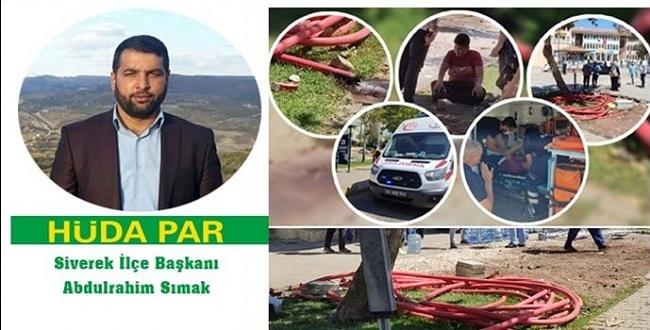 HÜDA PAR İlçe Başkanı Sımak'tan DEDAŞ'a tepki