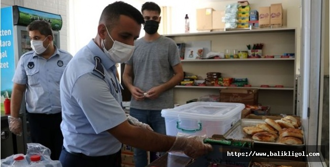 Karaköprü'de Zabıta Okul Kantinlerinde Denetledi