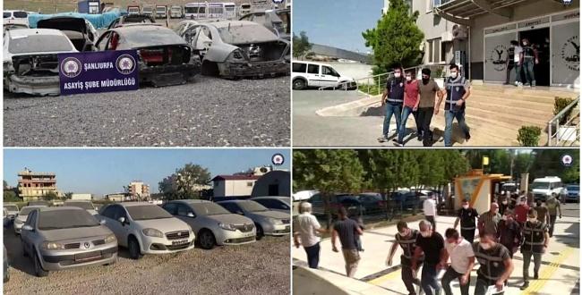 Şanlıurfa ve Mersin'de change araç operasyonu: 4 tutuklama