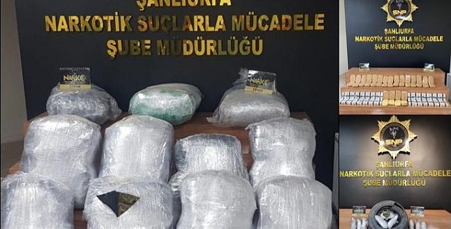 149 kilo 500 gram uyuşturucu ele geçirildi