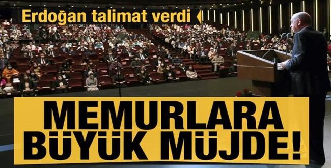 Erdoğan talimatını verdi! Memurlara Büyük Müjde!..