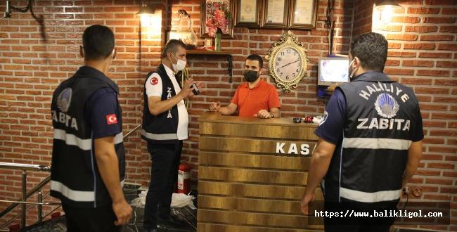 Haliliye'de Zabıta Cafelere Gece Denetimine Çıktı