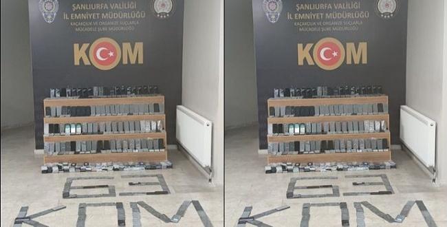 Şanlıurfa'da 470 kaçak cep telefonu ele geçirildi