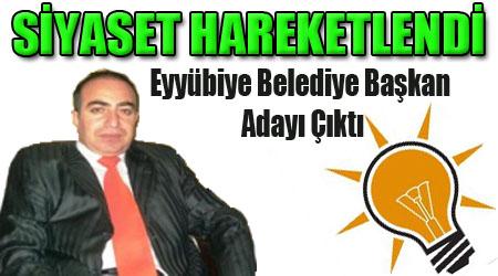 Eyyübiye Belediyesi için İlk Başkan Aday Adayı çıktı