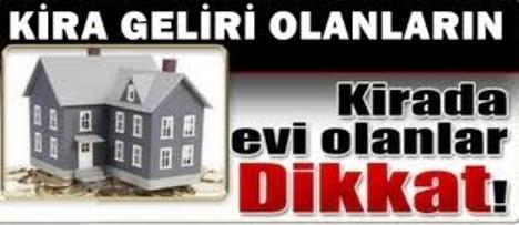 Vergi Dairesinden ev sahiplerine 'Kira' uyarısı