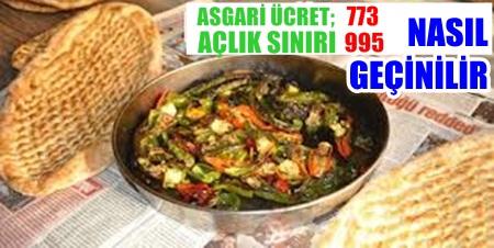 Asgari ücret 773,01 TL, Açlık sınırı 995 TL olarak açıklandı