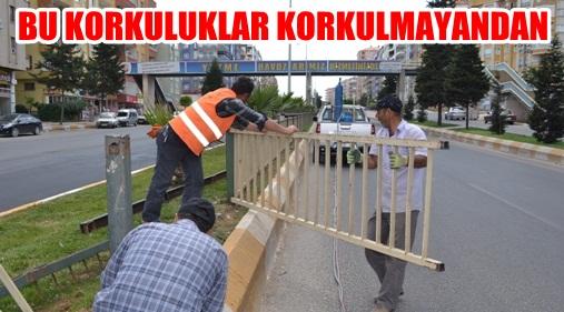 İpekyol'daki Demir Korkuluklar değiştirildi