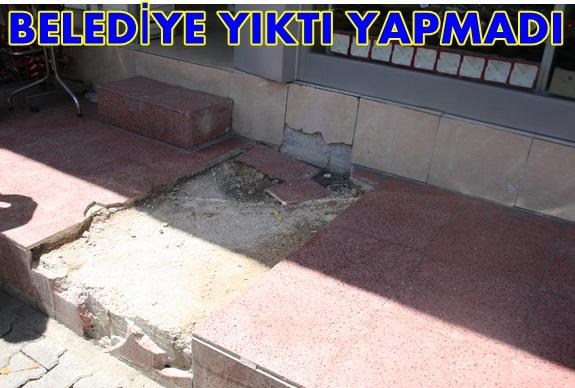Şanlıurfa Belediyesi Yıktığı Yerleri Onarmıyor!